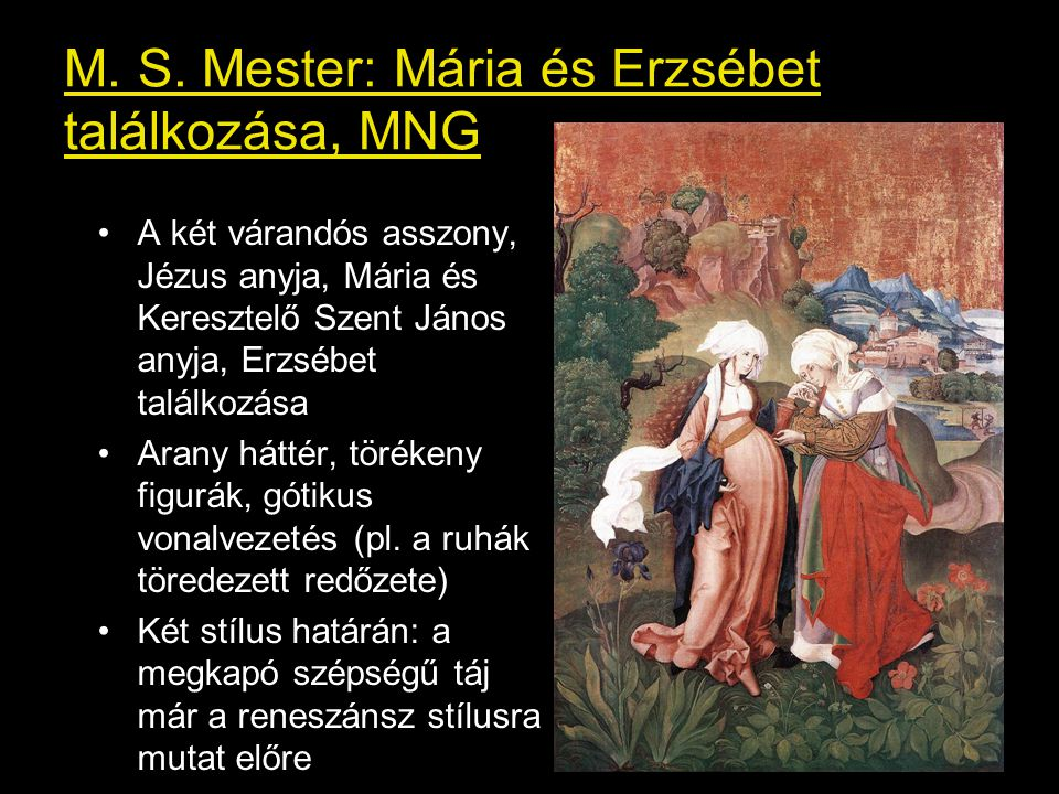 M. S. Mester: Mária és Erzsébet találkozása, MNG
