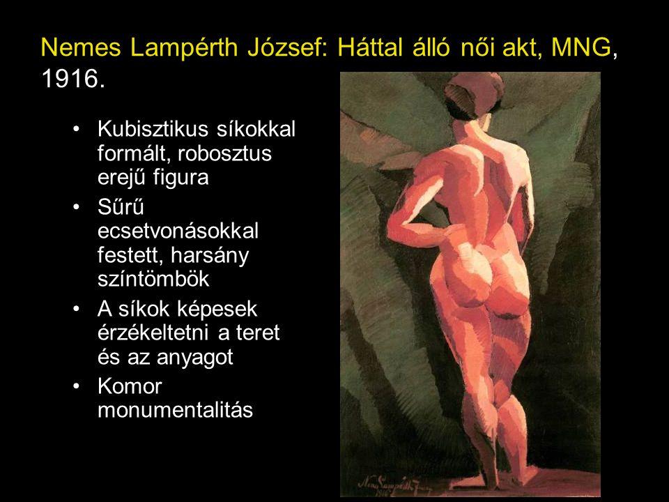 Nemes Lampérth József: Háttal álló női akt, MNG, 1916.