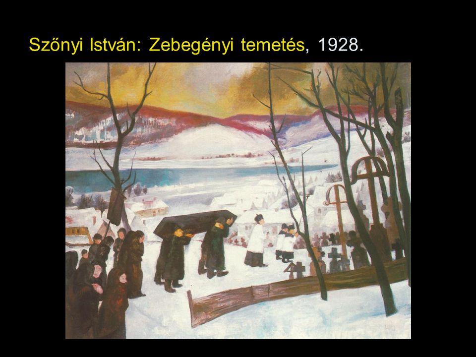Szőnyi István: Zebegényi temetés, 1928.