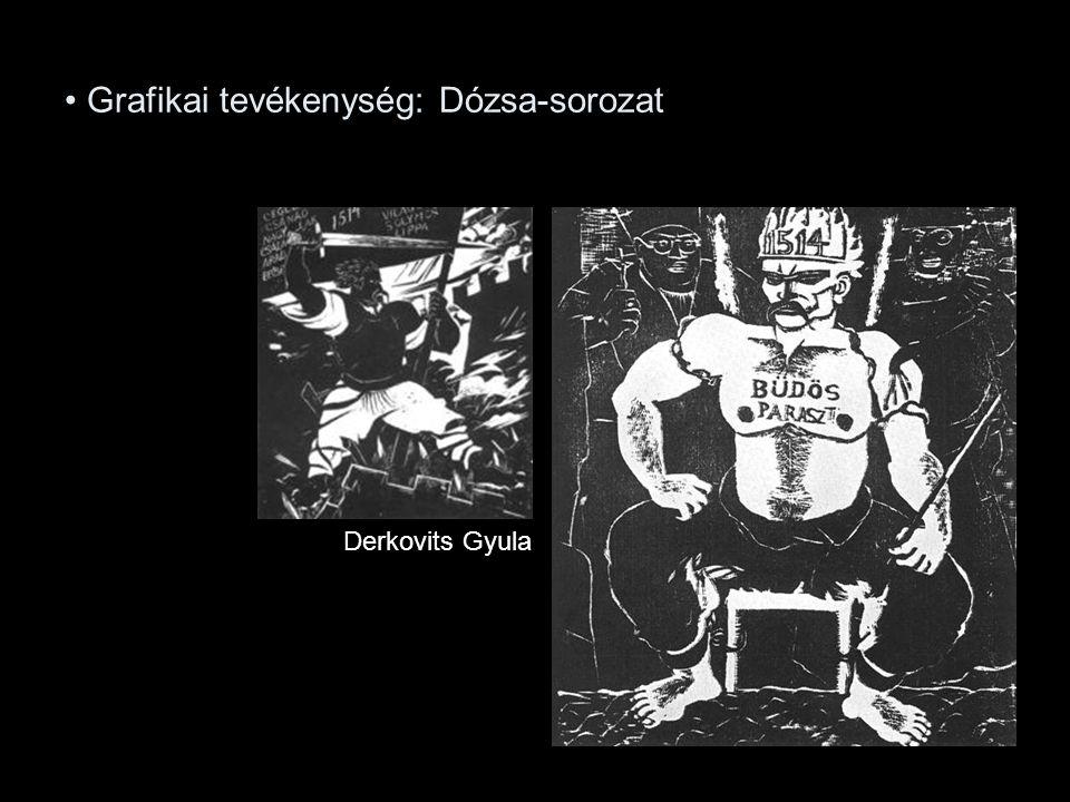 Grafikai tevékenység: Dózsa-sorozat