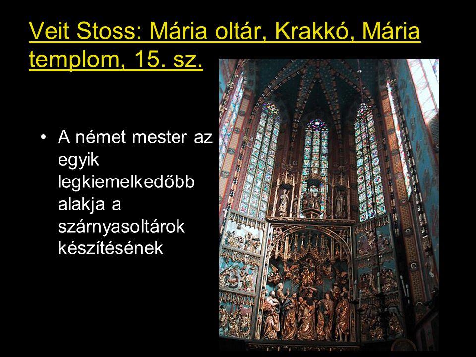 Veit Stoss: Mária oltár, Krakkó, Mária templom, 15. sz.