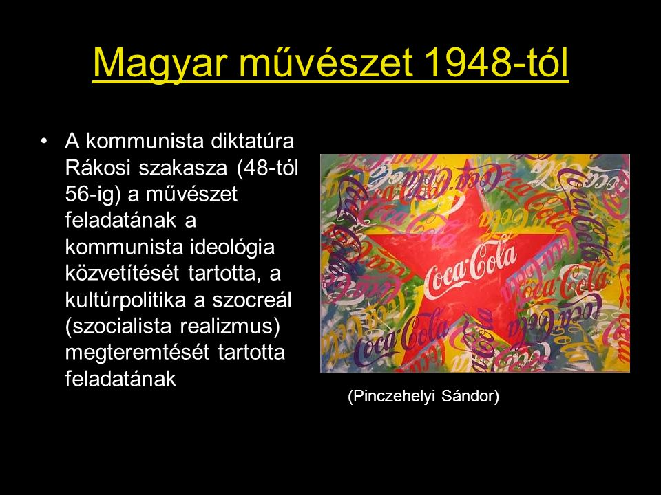 Magyar művészet 1948-tól