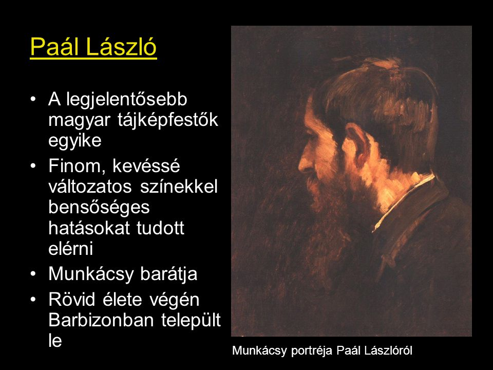 Paál László A legjelentősebb magyar tájképfestők egyike