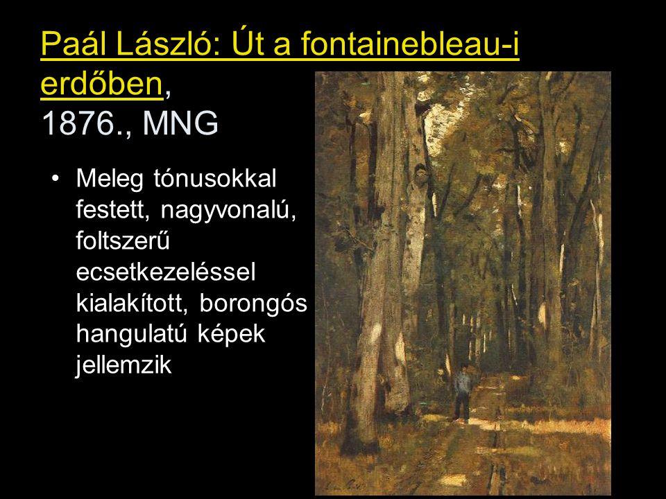 Paál László: Út a fontainebleau-i erdőben, 1876., MNG