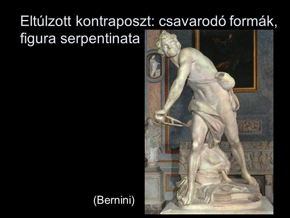 Eltúlzott kontraposzt: csavarodó formák, figura serpentinata