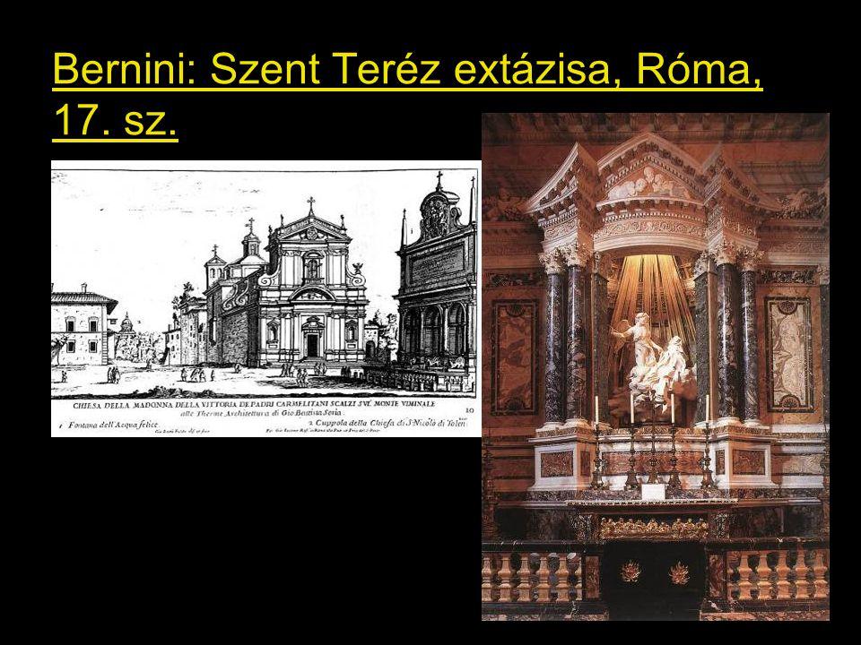 Bernini: Szent Teréz extázisa, Róma, 17. sz.