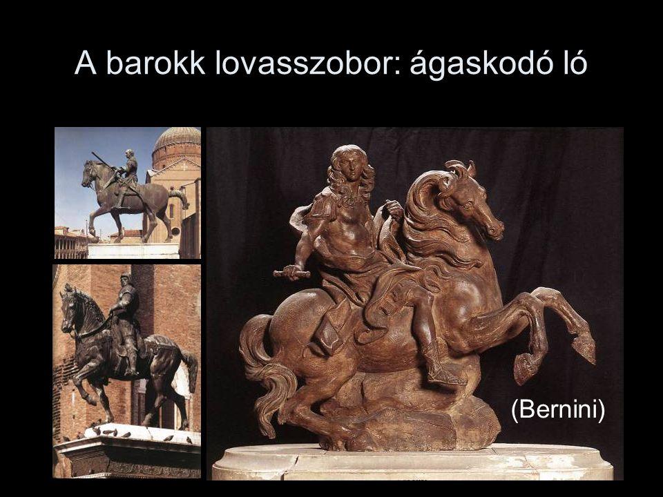 A barokk lovasszobor: ágaskodó ló