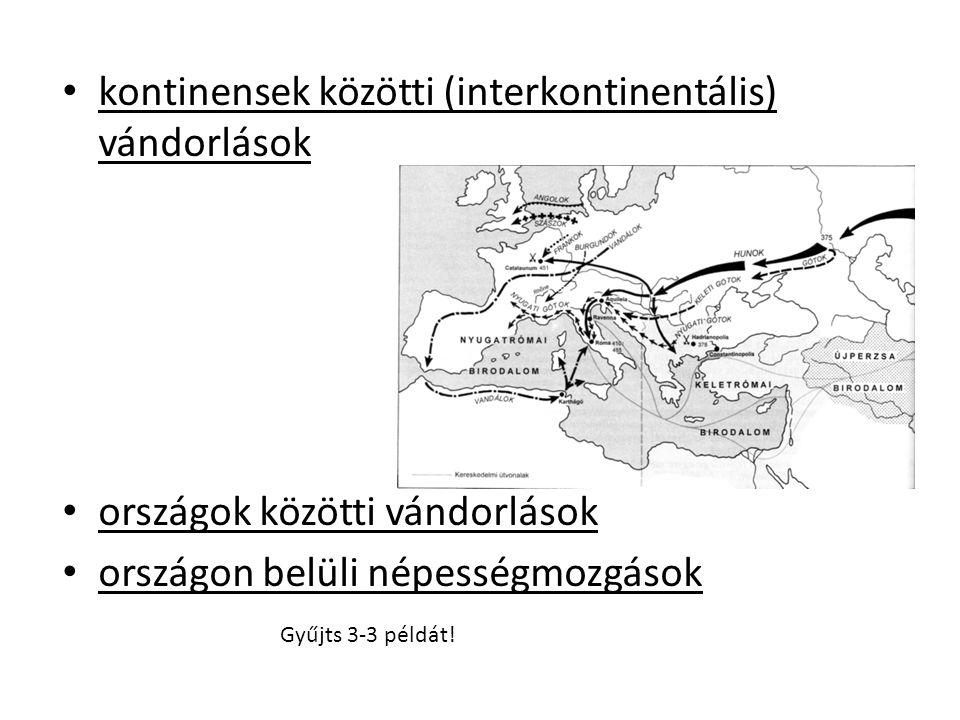 kontinensek közötti (interkontinentális) vándorlások
