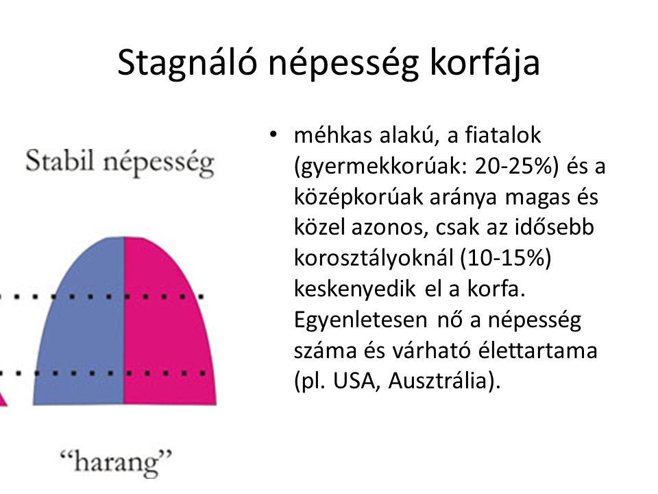 Stagnáló népesség korfája