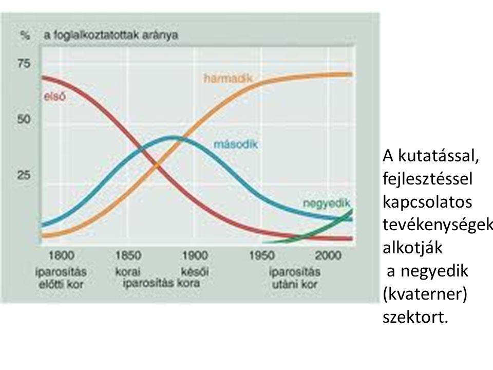 A kutatással, fejlesztéssel kapcsolatos tevékenységek alkotják a negyedik (kvaterner) szektort.