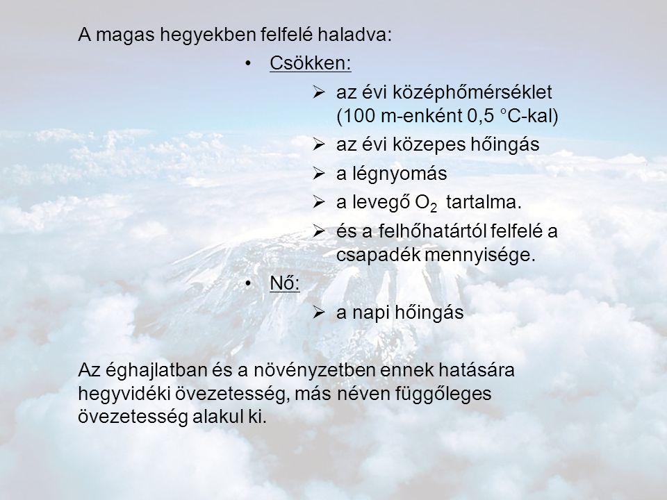 A magas hegyekben felfelé haladva: