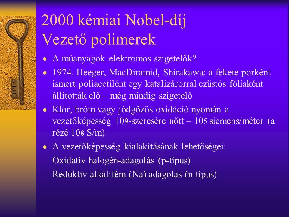 2000 kémiai Nobel-díj Vezető polimerek