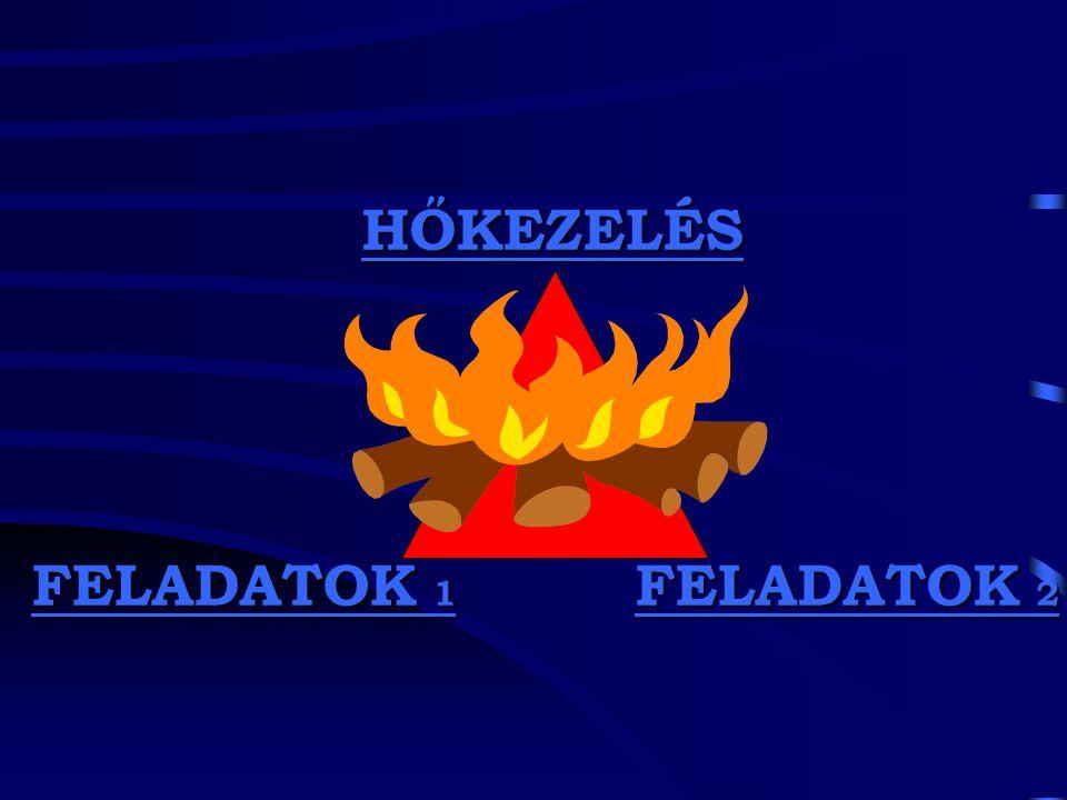 HŐKEZELÉS FELADATOK 1 FELADATOK 2