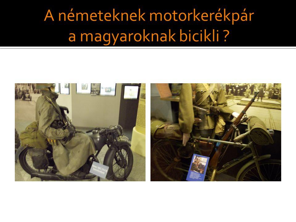 A németeknek motorkerékpár a magyaroknak bicikli