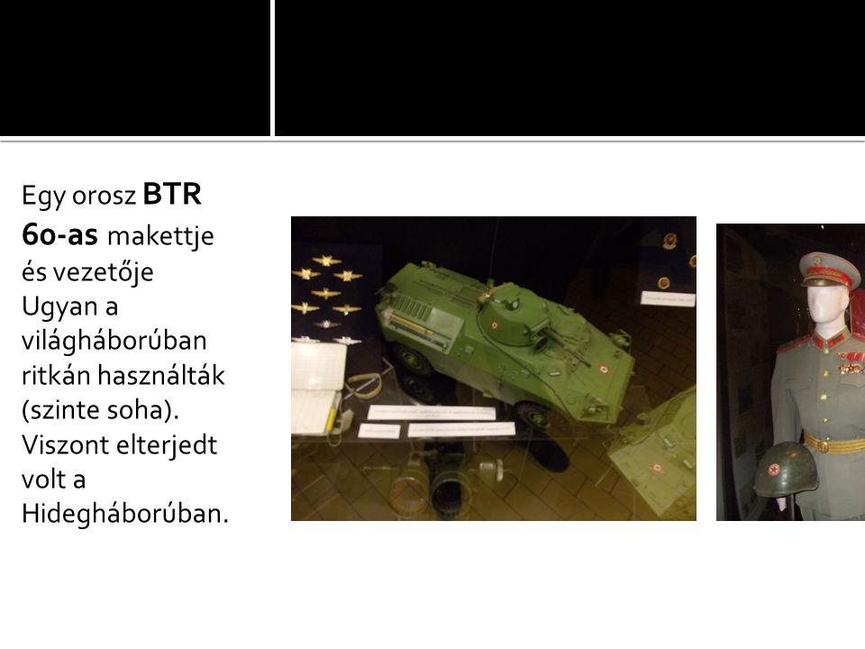 Egy orosz BTR 60-as makettje és vezetője