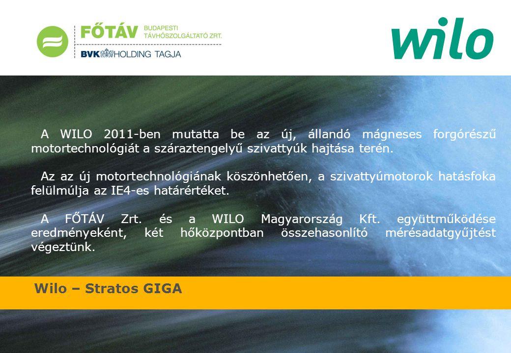 A WILO 2011-ben mutatta be az új, állandó mágneses forgórészű motortechnológiát a száraztengelyű szivattyúk hajtása terén.