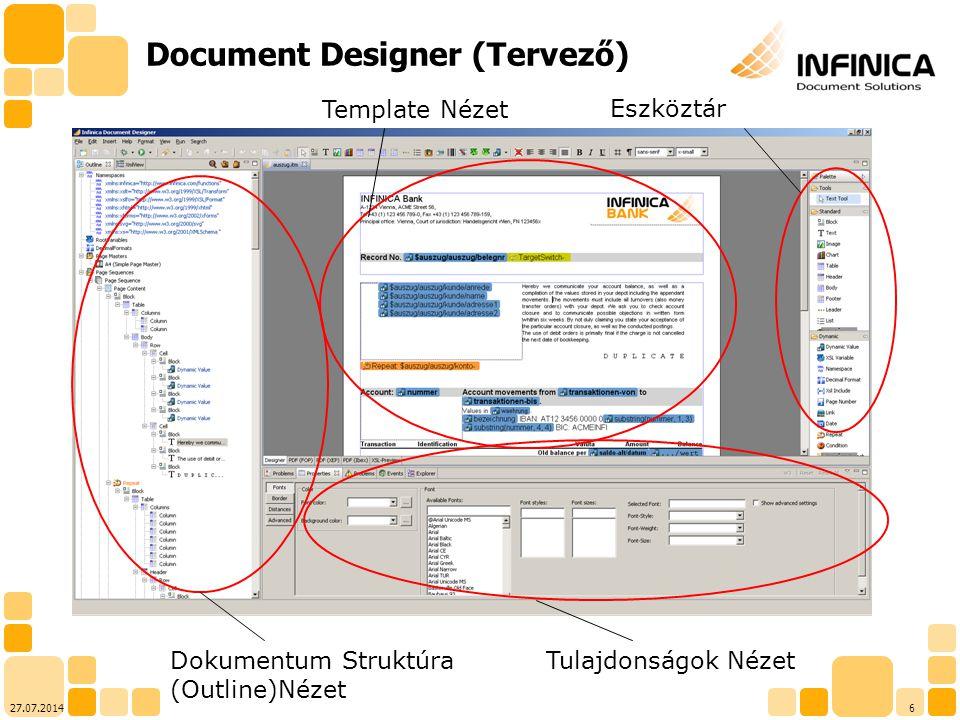 Document Designer (Tervező)
