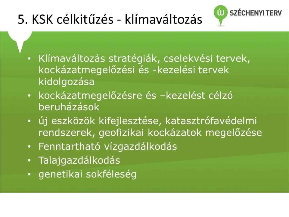 5. KSK célkitűzés - klímaváltozás