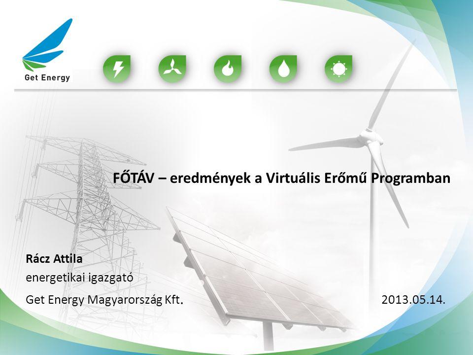 FŐTÁV – eredmények a Virtuális Erőmű Programban