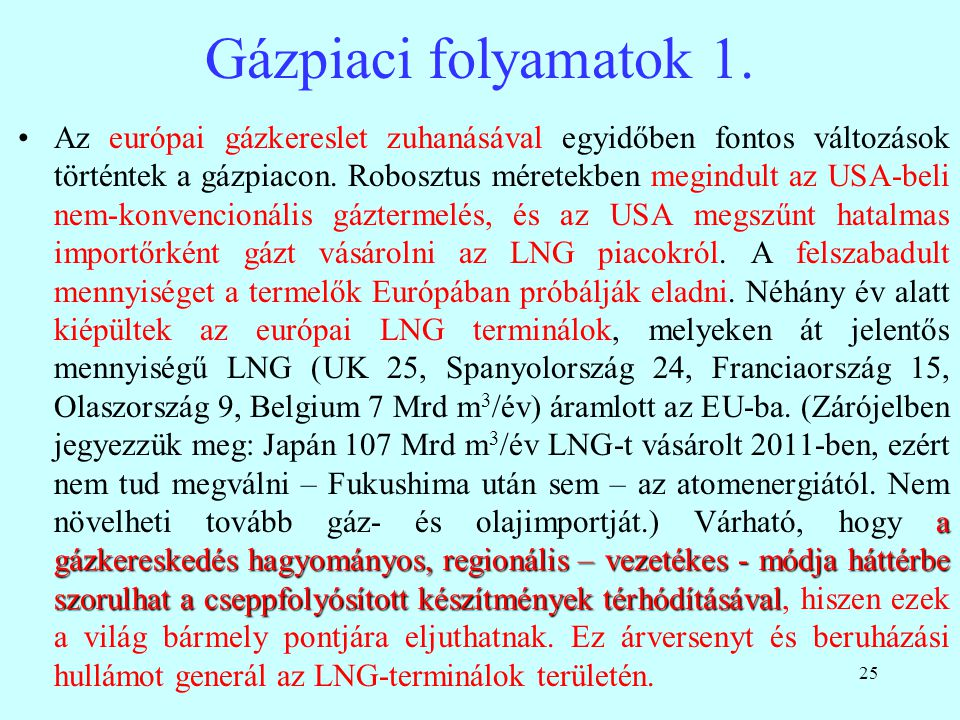 Gázpiaci folyamatok 1.