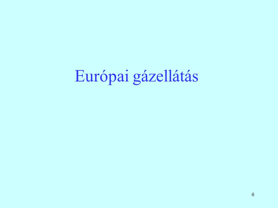 Európai gázellátás