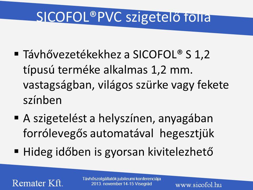 SICOFOL®PVC szigetelő fólia