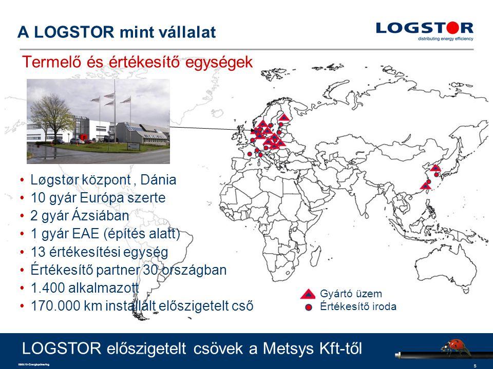 A LOGSTOR mint vállalat Termelő és értékesítő egységek