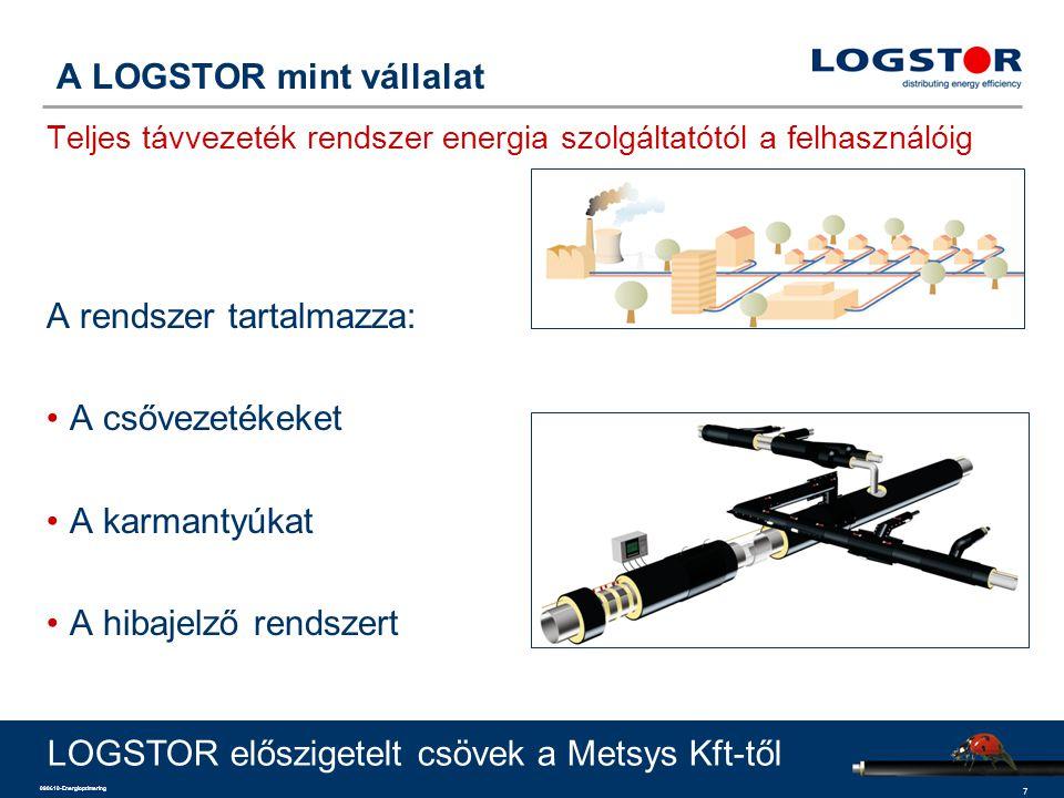 A rendszer tartalmazza: A csővezetékeket A karmantyúkat