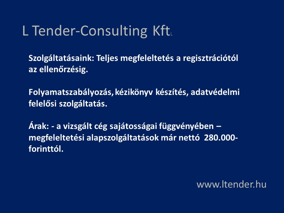L Tender-Consulting KftL
