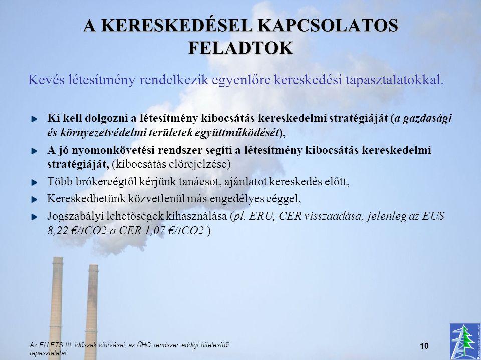 A KERESKEDÉSEL KAPCSOLATOS FELADTOK