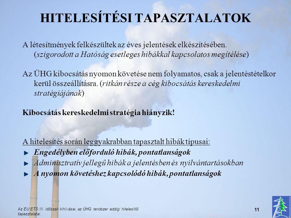 HITELESÍTÉSI TAPASZTALATOK