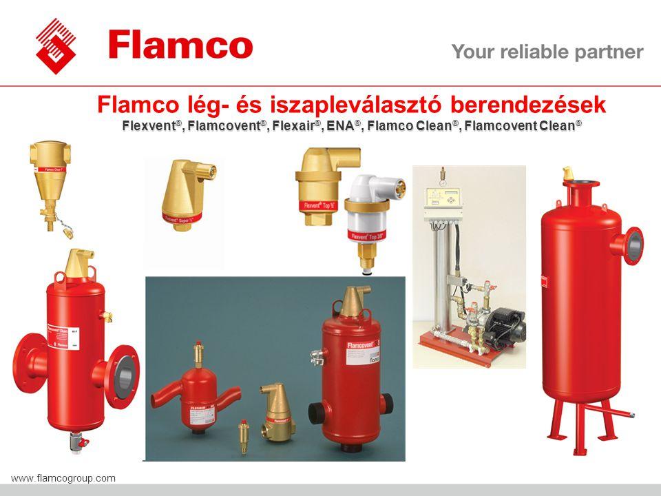 Flamco lég- és iszapleválasztó berendezések Flexvent®, Flamcovent®, Flexair®, ENA®, Flamco Clean®, Flamcovent Clean®