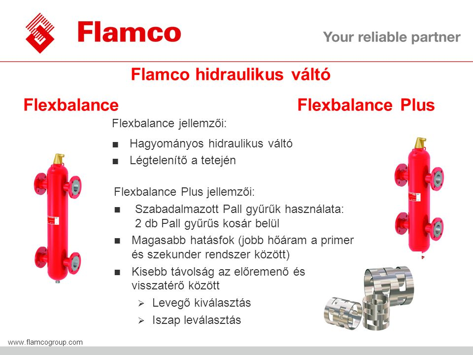 Flamco hidraulikus váltó