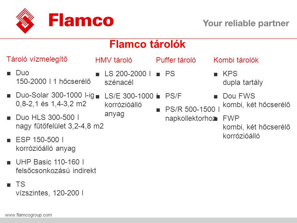 Flamco tárolók Tároló vízmelegítő Duo 150-2000 l 1 hőcserélő