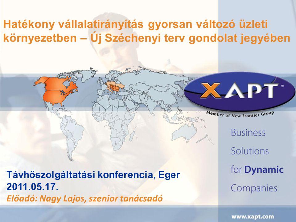 Hatékony vállalatirányítás gyorsan változó üzleti környezetben – Új Széchenyi terv gondolat jegyében