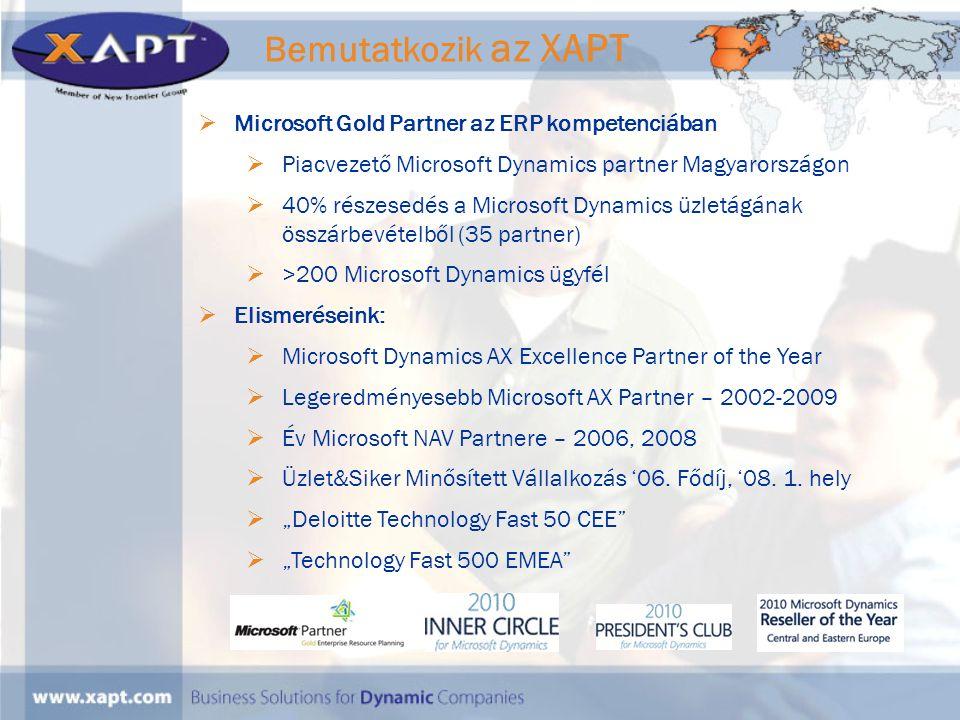 Bemutatkozik az XAPT Microsoft Gold Partner az ERP kompetenciában