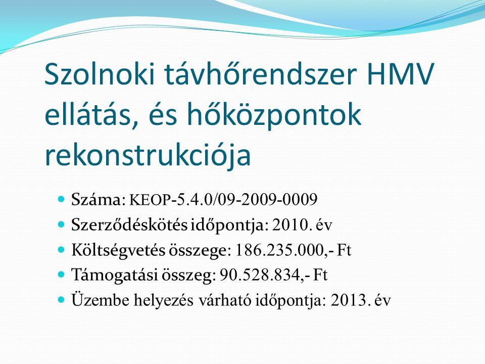 Szolnoki távhőrendszer HMV ellátás, és hőközpontok rekonstrukciója