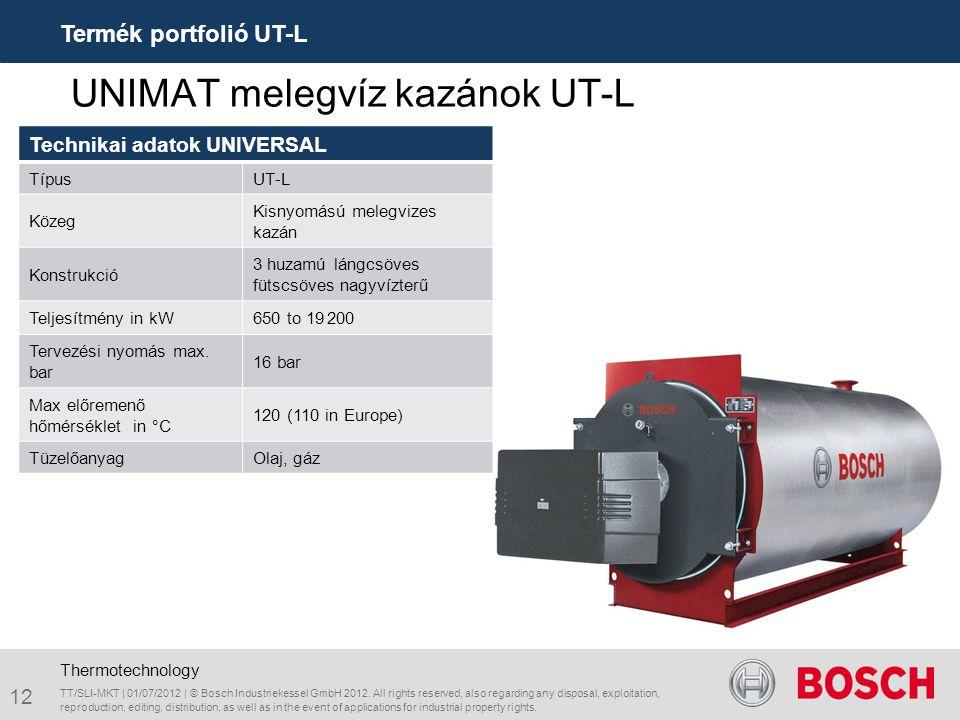 UNIMAT melegvíz kazánok UT-L