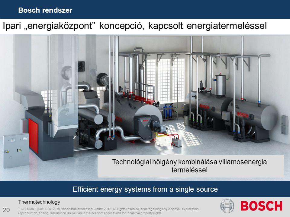 """Ipari """"energiaközpont koncepció, kapcsolt energiatermeléssel"""