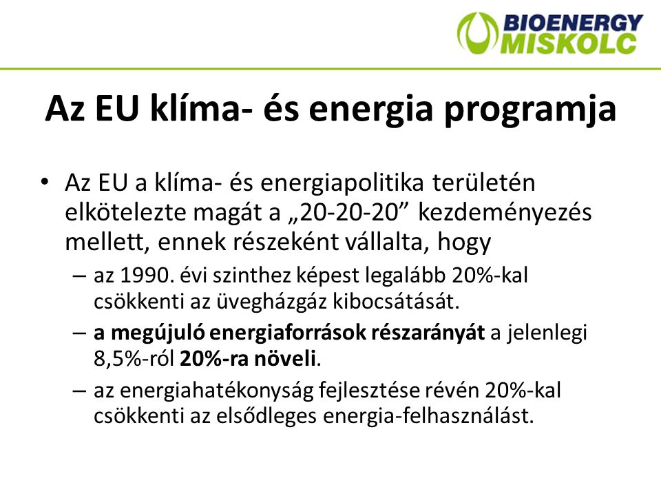 Az EU klíma- és energia programja