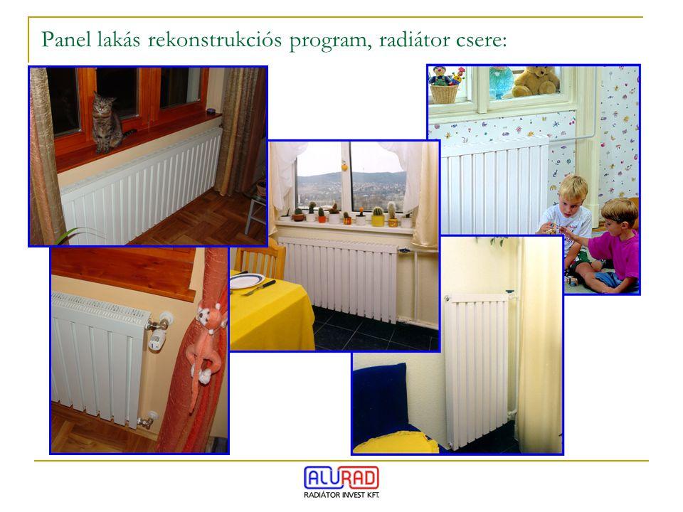 Panel lakás rekonstrukciós program, radiátor csere: