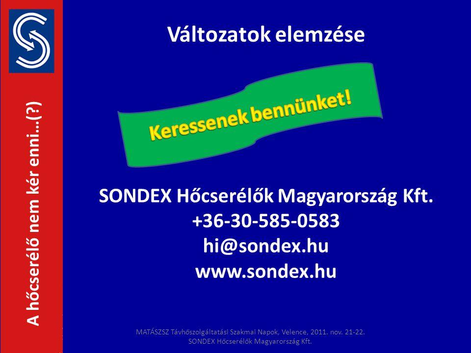 SONDEX Hőcserélők Magyarország Kft.
