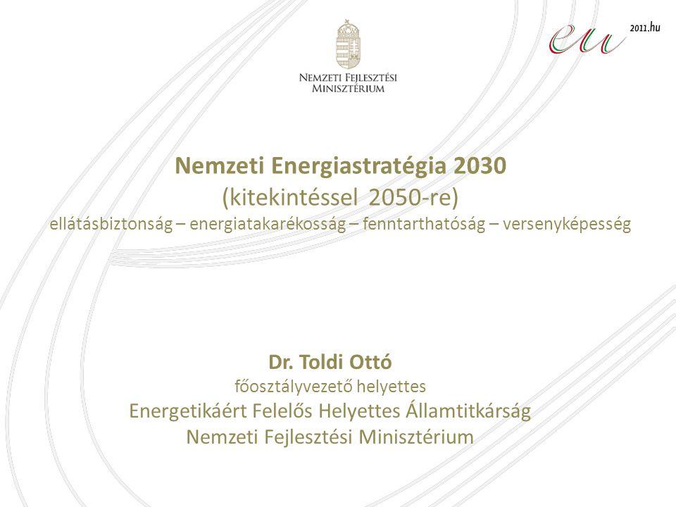 Nemzeti Energiastratégia 2030 (kitekintéssel 2050-re) ellátásbiztonság – energiatakarékosság – fenntarthatóság – versenyképesség