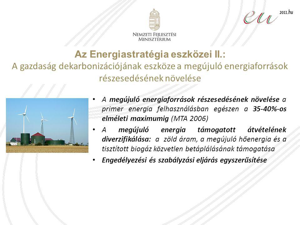 Az Energiastratégia eszközei II.: