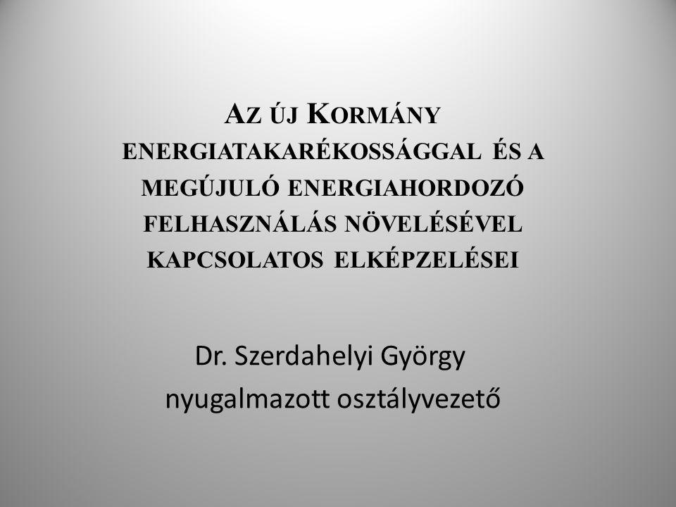 Dr. Szerdahelyi György nyugalmazott osztályvezető