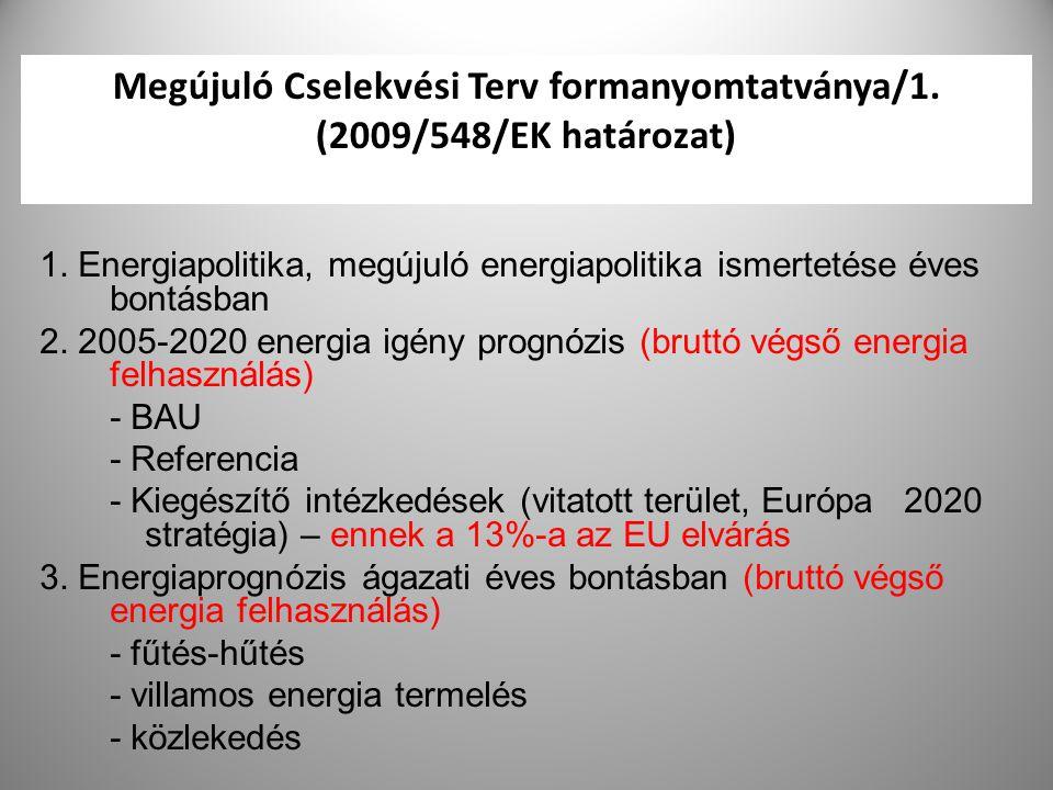 Megújuló Cselekvési Terv formanyomtatványa/1. (2009/548/EK határozat)