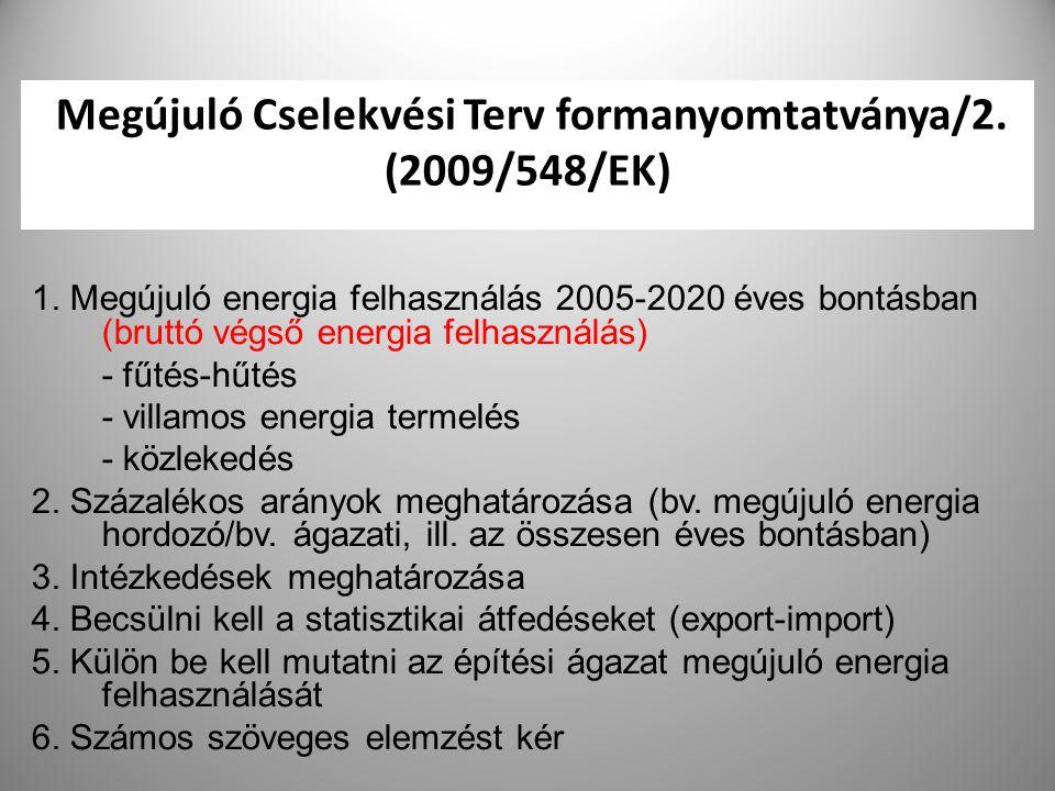 Megújuló Cselekvési Terv formanyomtatványa/2. (2009/548/EK)
