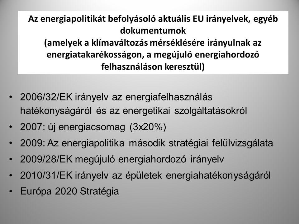 2007: új energiacsomag (3x20%)