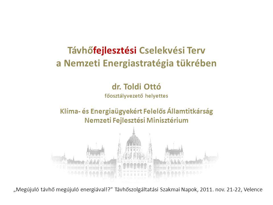 Távhőfejlesztési Cselekvési Terv a Nemzeti Energiastratégia tükrében