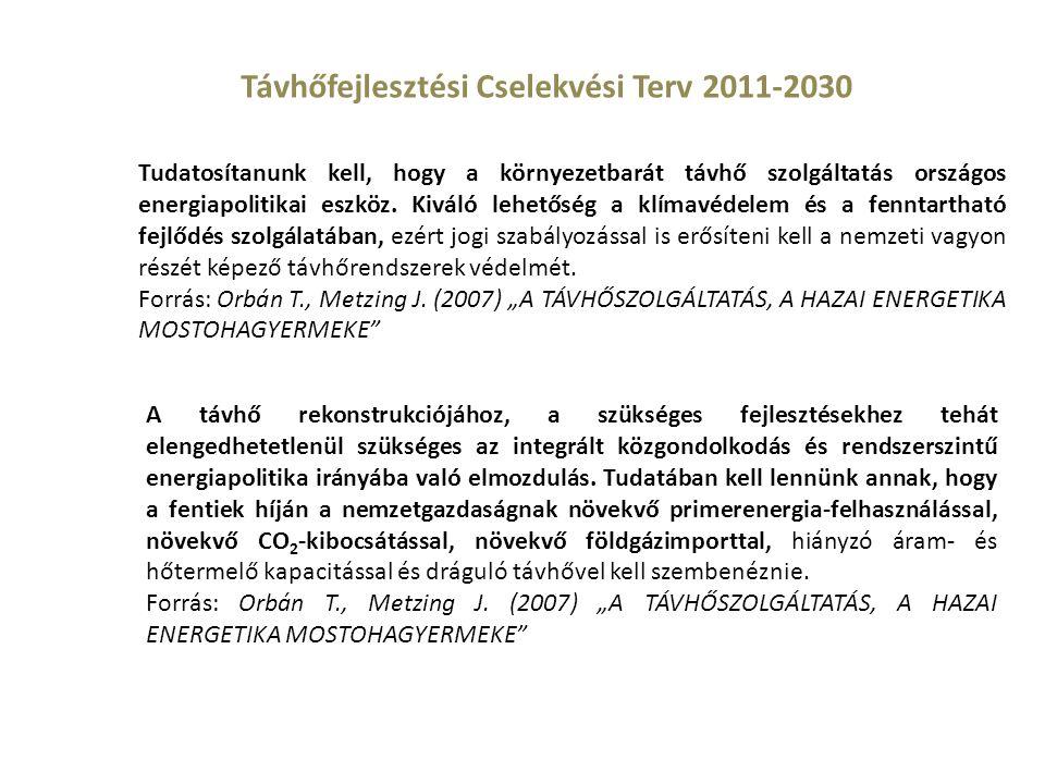Távhőfejlesztési Cselekvési Terv 2011-2030